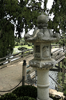 Bridge to Japanse Garden, Watercolor Effect