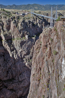 Royal Gorge Bridge and gorge, looking south