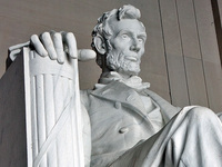 Lincoln Memorial - Lincoln detail