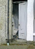 Trompe loeil doorway