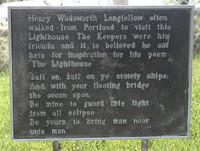 Longfellow Plaque, Portland Head, ME