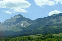 Looking north into Glacier National Park